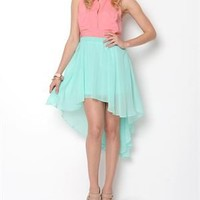 Cotton Candy Hi-Low Skirt - In Style Tops and Bottoms - Modnique.com