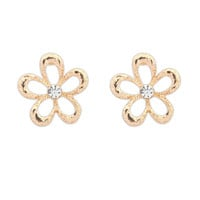 Simple Metal Floral Earrings [4919093956]