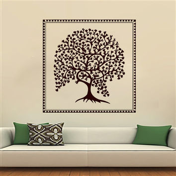 Wall Decals Yoga Tree Vinyl Sticker Decal Studio Gym Decor Home Interior Design Art Murals Bedroom Dorm MN337