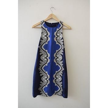 Tibi Blue Printed Shift Dress