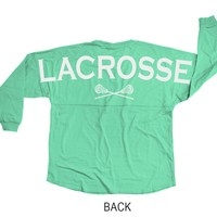 Lacrosse Game Day Jersey Lacrosse With Crossed Sticks | LuLaLax.com