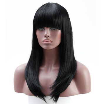 ONETOW Long Black Wavy Wig - Women Wigs - Heat Resistant