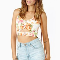 Orange Blossom Crop Tank