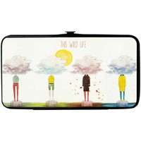 This Wild Life Women's Clouded People Girls Wallet