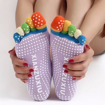 Kids Rubber Yoga Gym Dance Sport Exercise Non Slip Massage Fitness Warm Socks = 1932178180