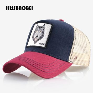 Trendy Winter Jacket Wolf Embroidery Baseball Cap Men Women Snapback Caps Breathable Mesh  Hip Hop Bone Unisex Casual Casquette Gorras Dad Hat AT_92_12