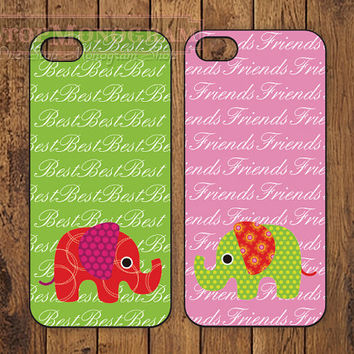 The Original Best Friends Elephant iPhone case - for iPhone 4/4s or iPhone 5/5s - B006