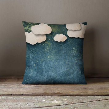 Night Paper Clouds Pillowcase Decorative Throw Pillow Cover Cushion Case Designer Pillow Case Birthday Gift Idea For Him Her Home Decor