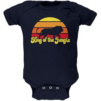 King Of The Jungle Lion Retro Sun Soft Baby One Piece