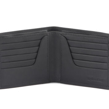 Style n Craft 300798-BL Bi-Fold Hipster Wallet in Soft Cow Leather