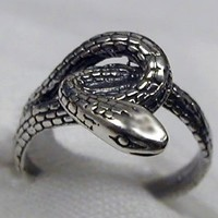 A Wonderful Sterling Snake Ring, Made in America