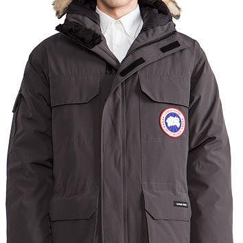 Canada Goose Expedition Parka with Coyote Fur Collar in Charcoal