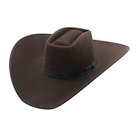 Rodeo King® 10X Brick Chocolate w/ Black Bound Edge Felt Cowboy Hat- BRK10CH475