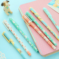 1 Pcs 0.35mm M&G Cute Kawaii Animal Sheep Fox Animal Gel Ink Pens Writing Office School Supplies Stationery For Kids Red Black