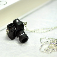 Canon 7D DSLR Camera miniature necklace