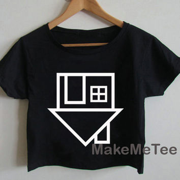 The Neighbourhood The NBHD Logo Crop top Tank Top Women Black and White Tee Shirt - MM1