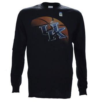 University of Kentucky REAL BALL on a Black Long Sleeve T Shirt
