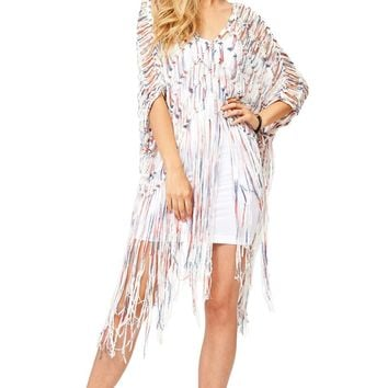 Refresh Fringe Macramé Tunic