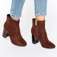 ASOS ERIN Wide Fit Heeled Ankle Boots at asos.com