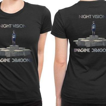 CREYH9S Imagine Dragons Night Vision Art Cover 2 Sided Womens T Shirt