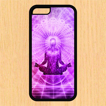 Purple Yoga Pose Sec1 Print Design Art iPhone 4 / 4s / 5 / 5s / 5c /6 / 6s /6+ Apple Samsung Galaxy S3 / S4 / S5 / S6