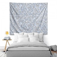 Wall Tapestries | Julia Grifol Blue Flowers