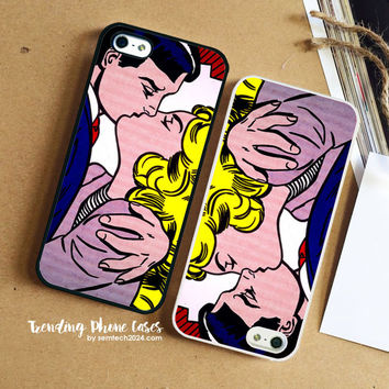Pin Roy Lichtenstein Pop Art  iPhone Case Cover for iPhone 6 6 Plus 5s 5 5c 4s 4 Case