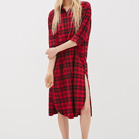 36 Plaid Shirt Dress