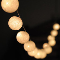 White ball lantern  Hanging string light ball wedding display light indoor outdoor