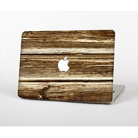 "The Dark Highlighted Old Wood Skin Set for the Apple MacBook Pro 13"" with Retina Display"