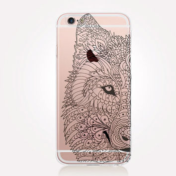 Transparent Wolf iPhone Case - Transparent Case - Clear Case - Transparent iPhone 6 - Transparent iPhone 5 - Transparent iPhone 4