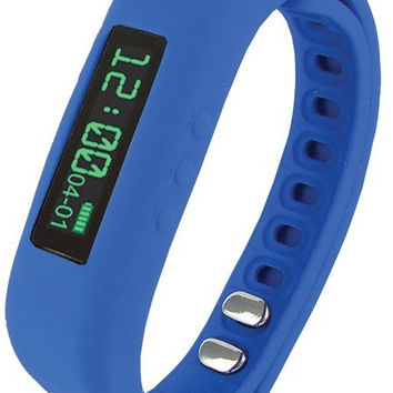 Supersonic Sc-62Sw Blue Bluetooth(R) Smart Wristband Fitness Tracker (Blue)