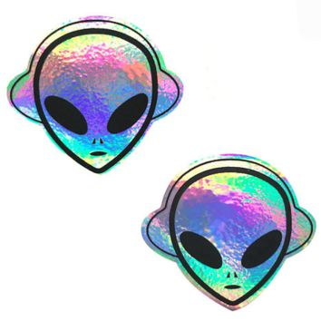 Kanye The Alien Super Holographic Pasties