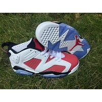 Air Jordan 6 Retro GS White/Red Sport Shoe 36--47