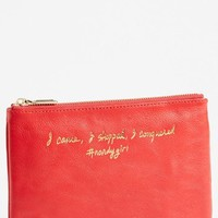 Rebecca Minkoff 'Erin - I Came, I Shopped, I Conquered' Leather Pouch | Nordstrom