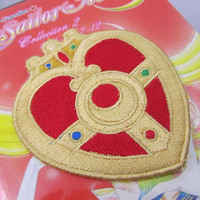 Sailor of the Moon Anime transformation brooch Version 3 Iron on OR Sew on machine embroidered patch
