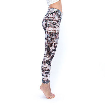 Printed Lace Leggings for Women