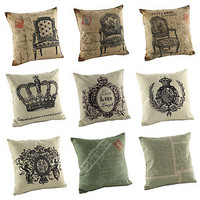 "New Fashion Cotton 18"" Cushion Cover Pillow Case Home Decoration Decor 9 styles"