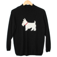 Westie / Highland Terrier Fuzzy Dog Ugly Sweater