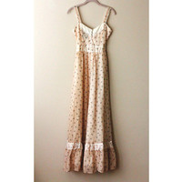 Duane - Floral Beige Cowgirl Maxi Dress