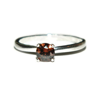Chocolate Brown Diamond Ring, 1/2 Carat, Anniversary, Promise