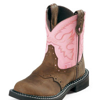 Justin Children's Youth Gypsy Western Boots in Bay Apache - Style 9901C