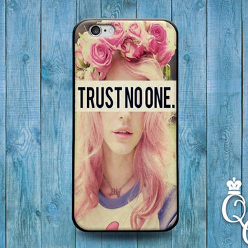 iPhone 4 4s 5 5s 5c 6 6s plus iPod Touch 4th 5th 6th Generation Funny Phone Cover Cool Fun Quote Trust No One Girl Girly Cute Word Life Case
