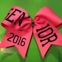 Texas Size Cheer Bow - 3 inch base- Choice of base color - choice of color for lettering