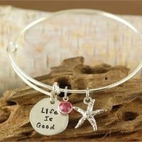 Life is Good Bangle Bracelet - Alex & Ani Inspired