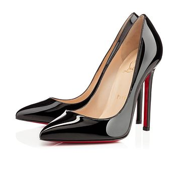 Best Online Sale Christian Louboutin Cl Pigalle Black Patent Leather 120mm Stiletto He