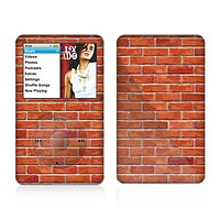 The Bright Red Brick Wall Skin For The Apple iPod Classic