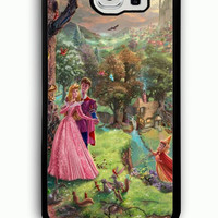 Samsung Galaxy S6 Case - Hard (PC) Cover with Disney Beautiful Sleeping Beauty Art Plastic case Design