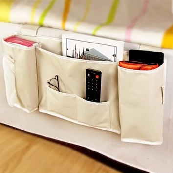 Multi-function Bedside Bed Pocket Bed Organizer Hanging Bag Phone Holder Storage Bag Useful