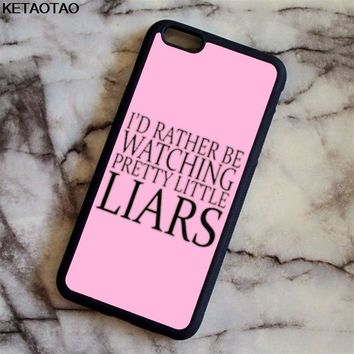 KETAOTAO TV Series Pretty Little Liars Phone Cases for iPhone 4S 5C 5S 6 6S 7 8 Plus XR XS Max Case Soft TPU Rubber Silicone